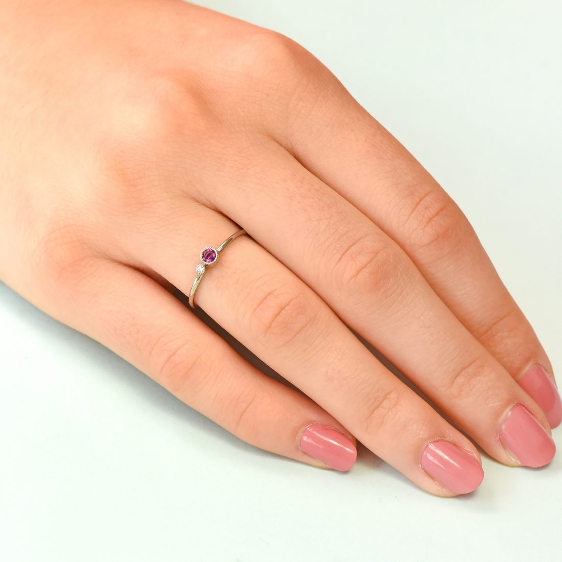 tourmaline birthstone stacking ring