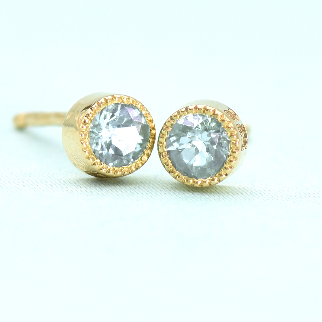 9f95d65d2 Aquamarine Stud Earrings in 18ct Gold (March Birthstone) – Lilia Nash