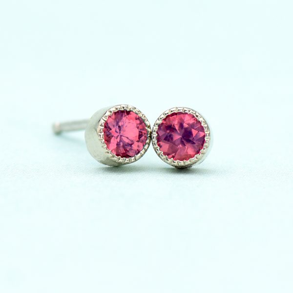 white gold tourmaline stud earrings