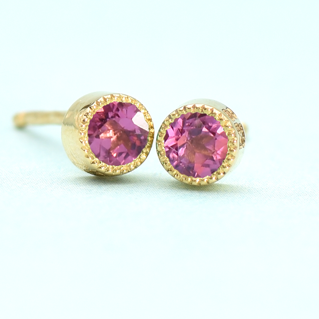 tourmaline stud earrings 18ct gold