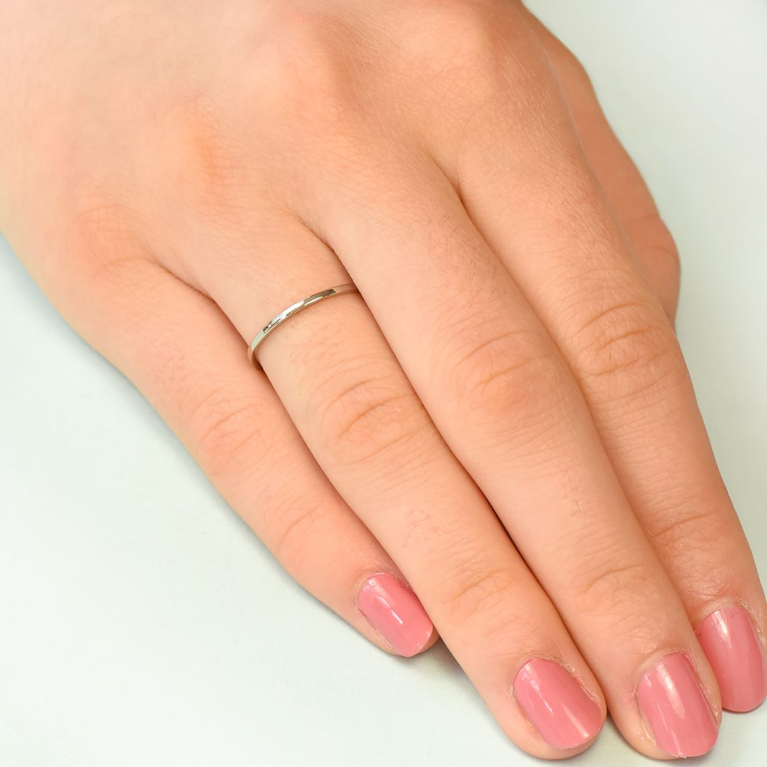 white gold stacking ring