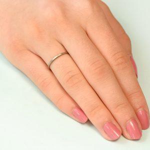 white gold stacking ring