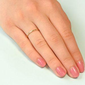 plain gold stacking ring