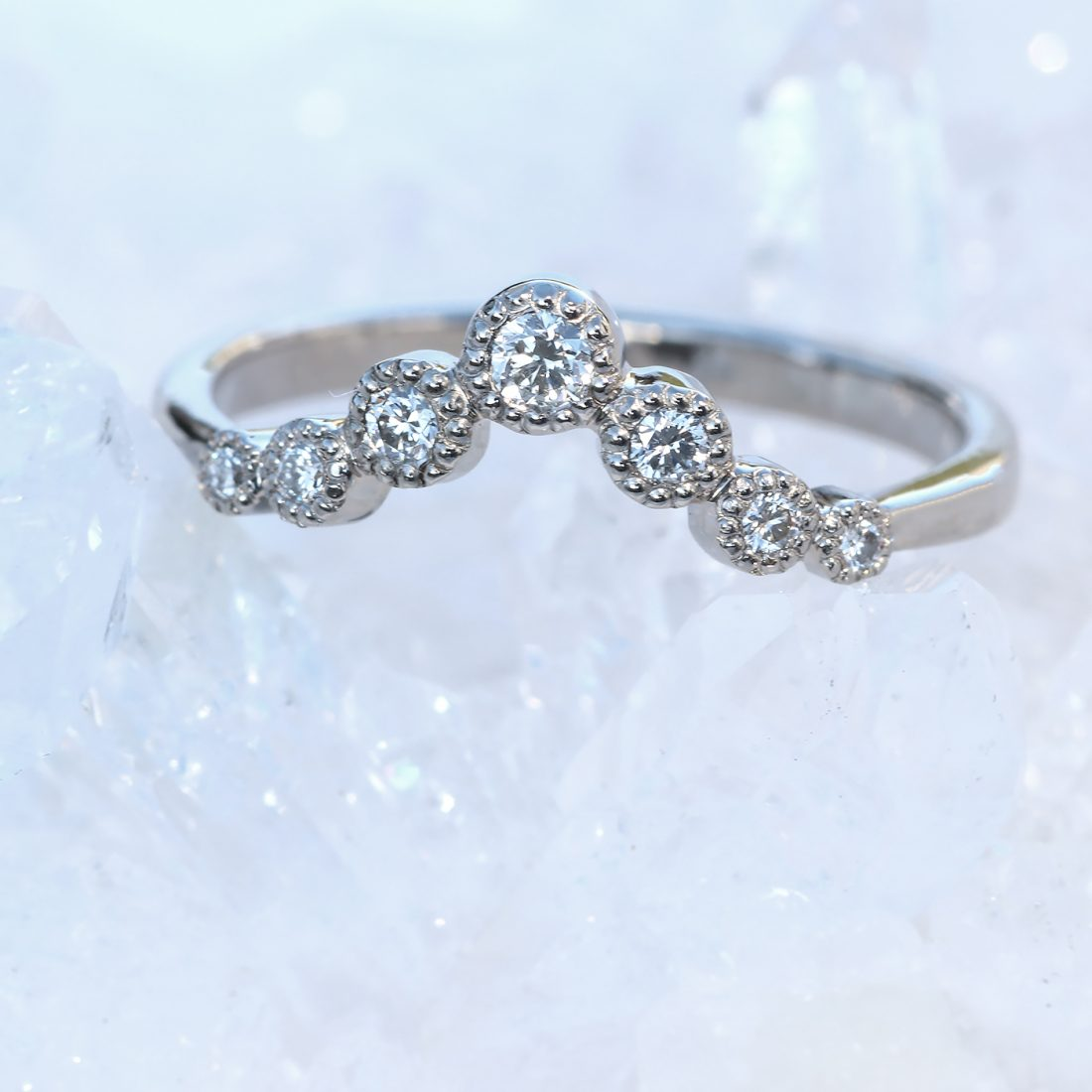 diamond wishbone wedding ring