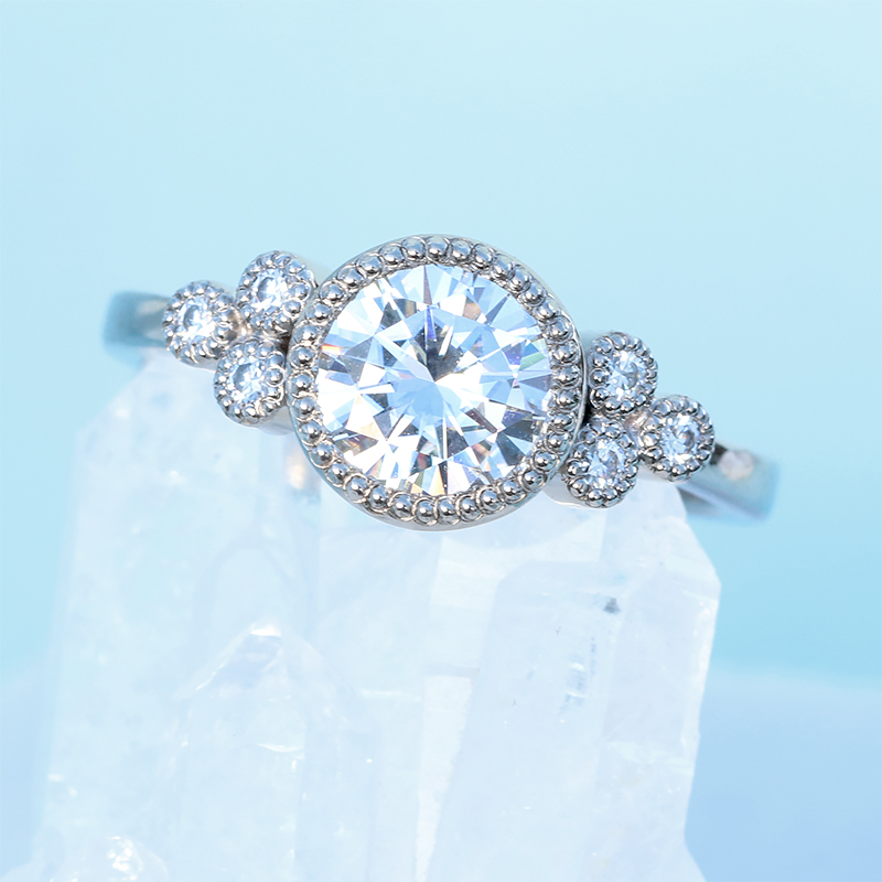 Moissanite Cluster Ring