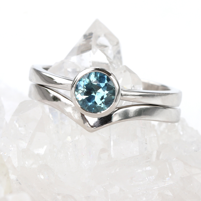montana sapphire wishbone set platinum