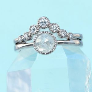 rose cut diamond ring