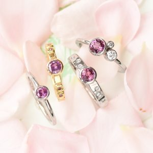 Purple & pink sapphire rings