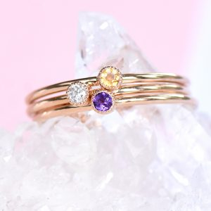 18ct Gold Stacking Ring Set - Lilia Nash Jewellery