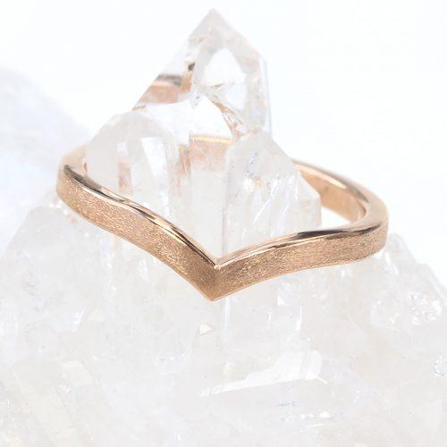 wishbone wedding ring 18ct rose gold