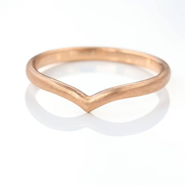 wishbone wedding ring rose gold