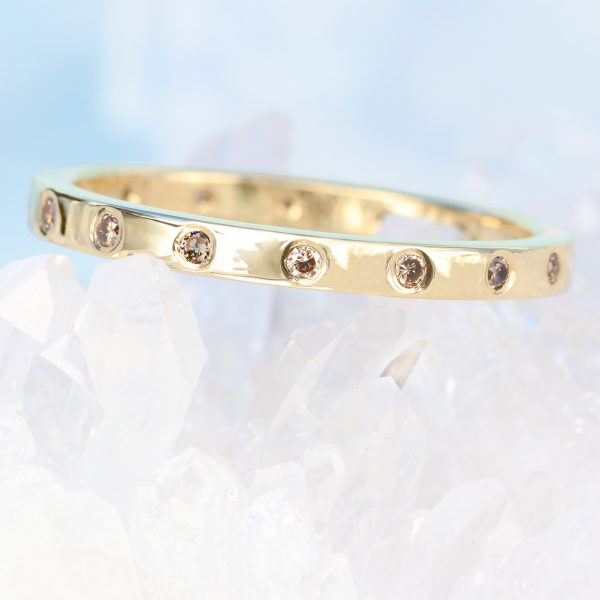 champagne diamond eternity ring