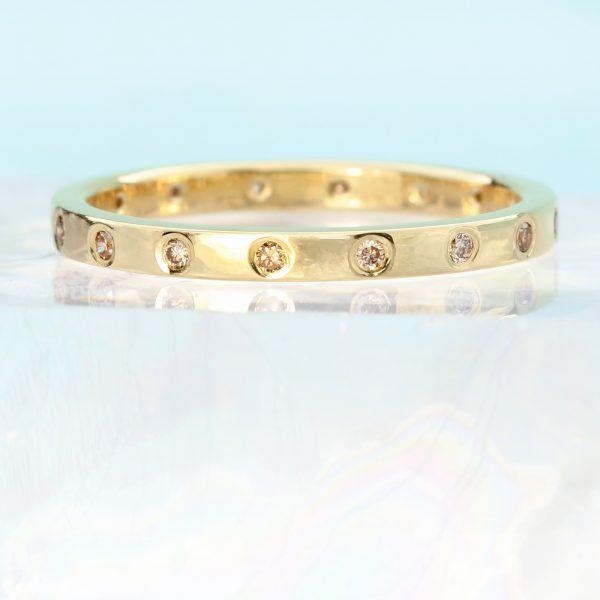Gold & Champagne Diamond Ring