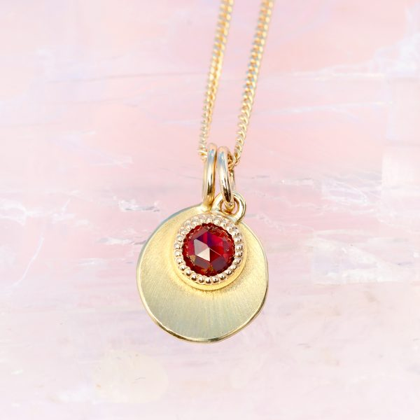 rose cut garnet pendant