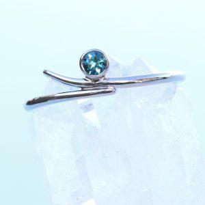 white gold blue tourmaline ring