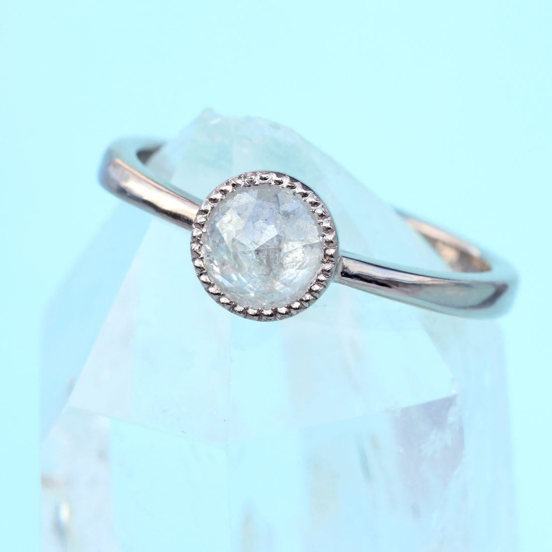 icy diamond engagement ring