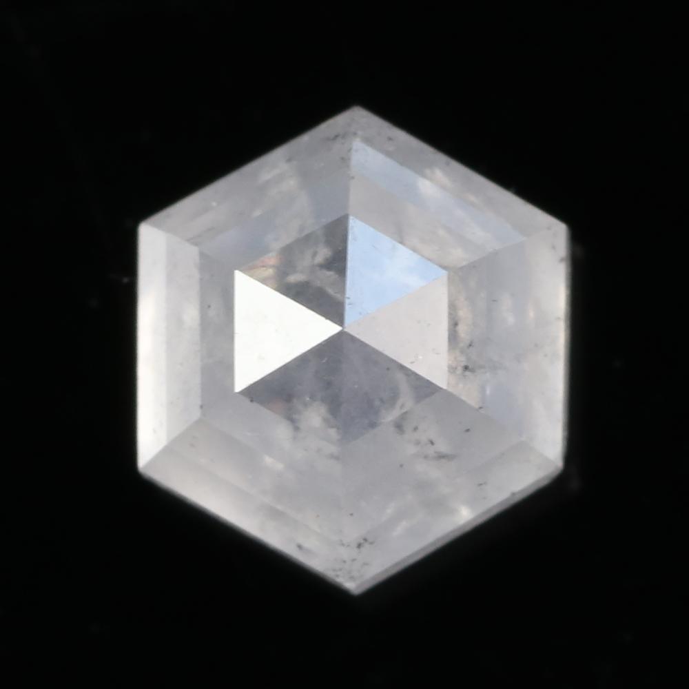 rose cut diamond hexagon