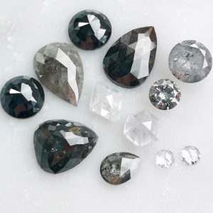 salt and pepper diamonds