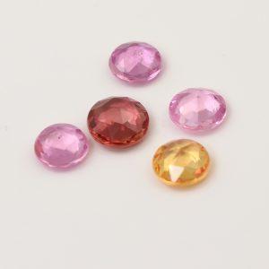 rose cut sapphires