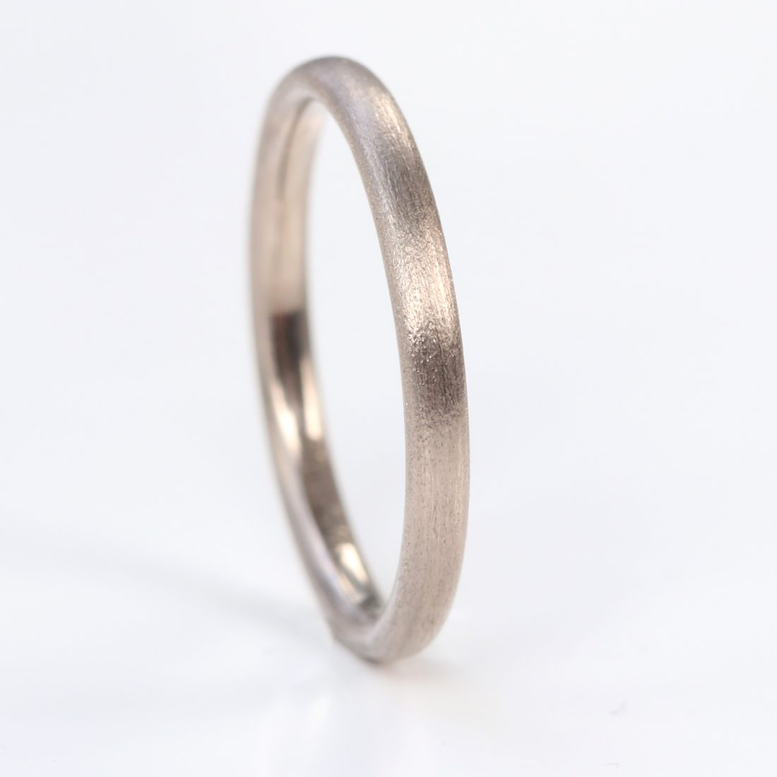 2mm comfort fit wedding ring white gold