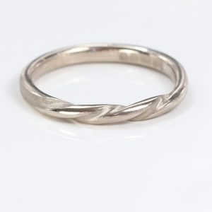 triple twist wedding ring white gold