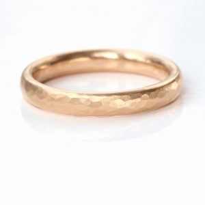 3mm half round wedding ring rose gold