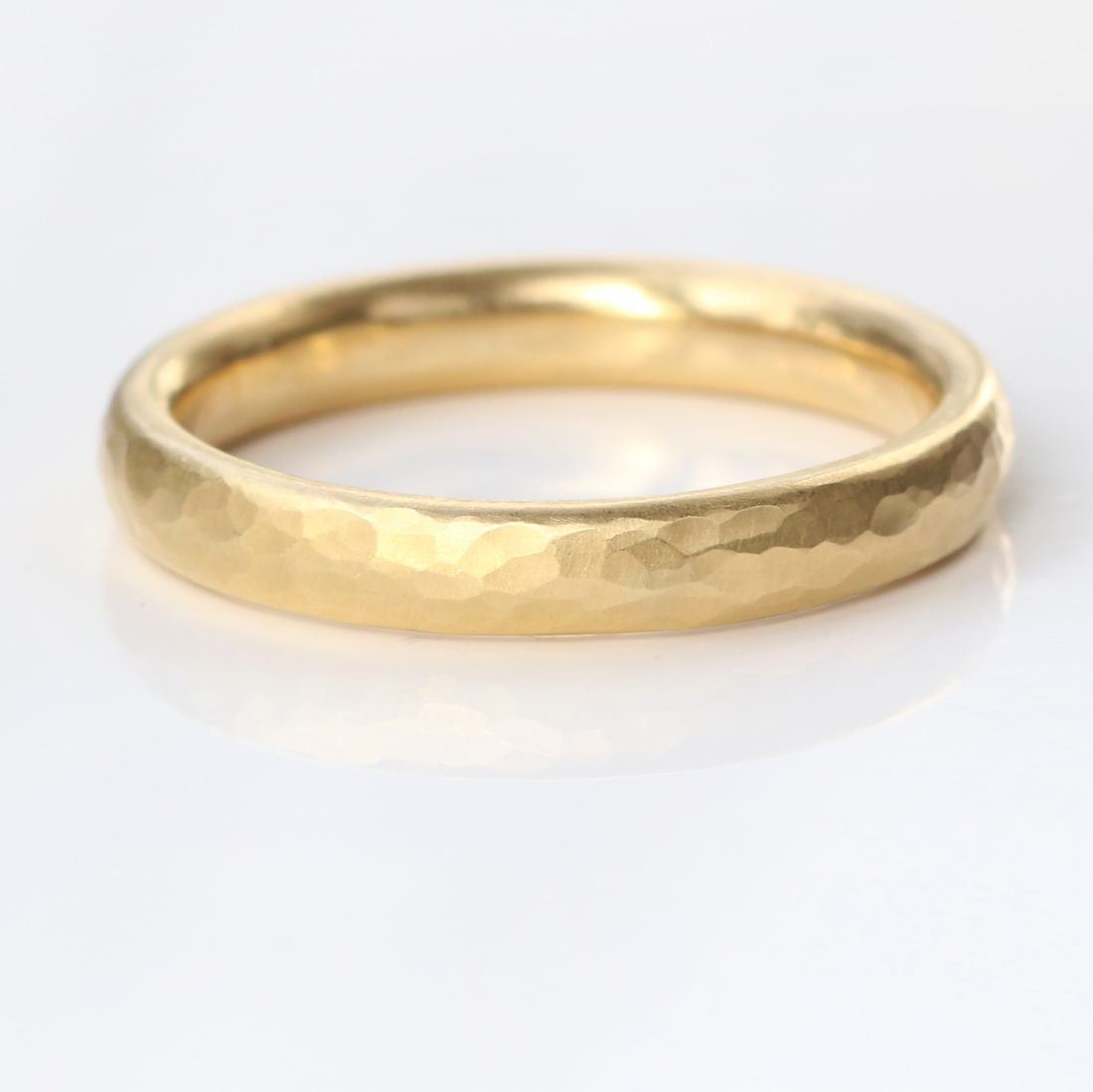 3mm half round wedding ring yellow gold