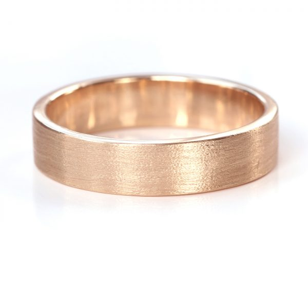 5mm flat wedding ring rose gold