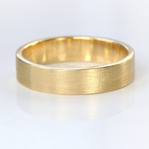 5mm flat wedding ring yellow gold