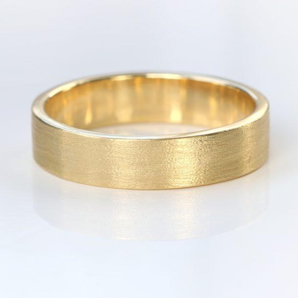5mm flat wedding ring yellow gold