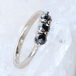 Lilia Nash Black Diamond Trilogy Ring