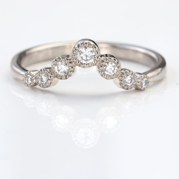 diamond wishbone wedding ring