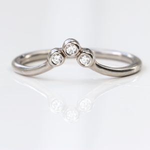 petite diamond wishbone ring