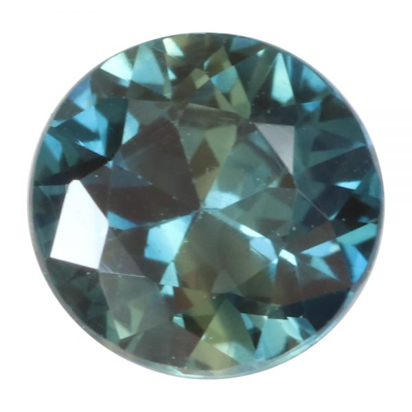 australian parti sapphire 5.8mm 0.9 carat