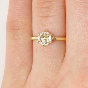rose cut diamond engagement ring