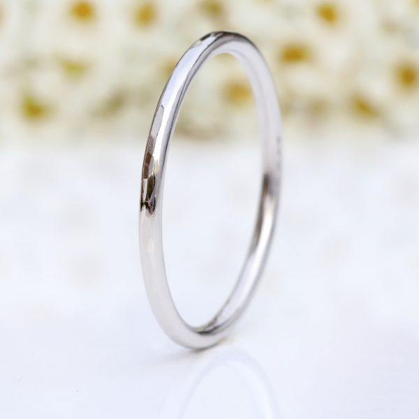 platinum slim halo wedding ring