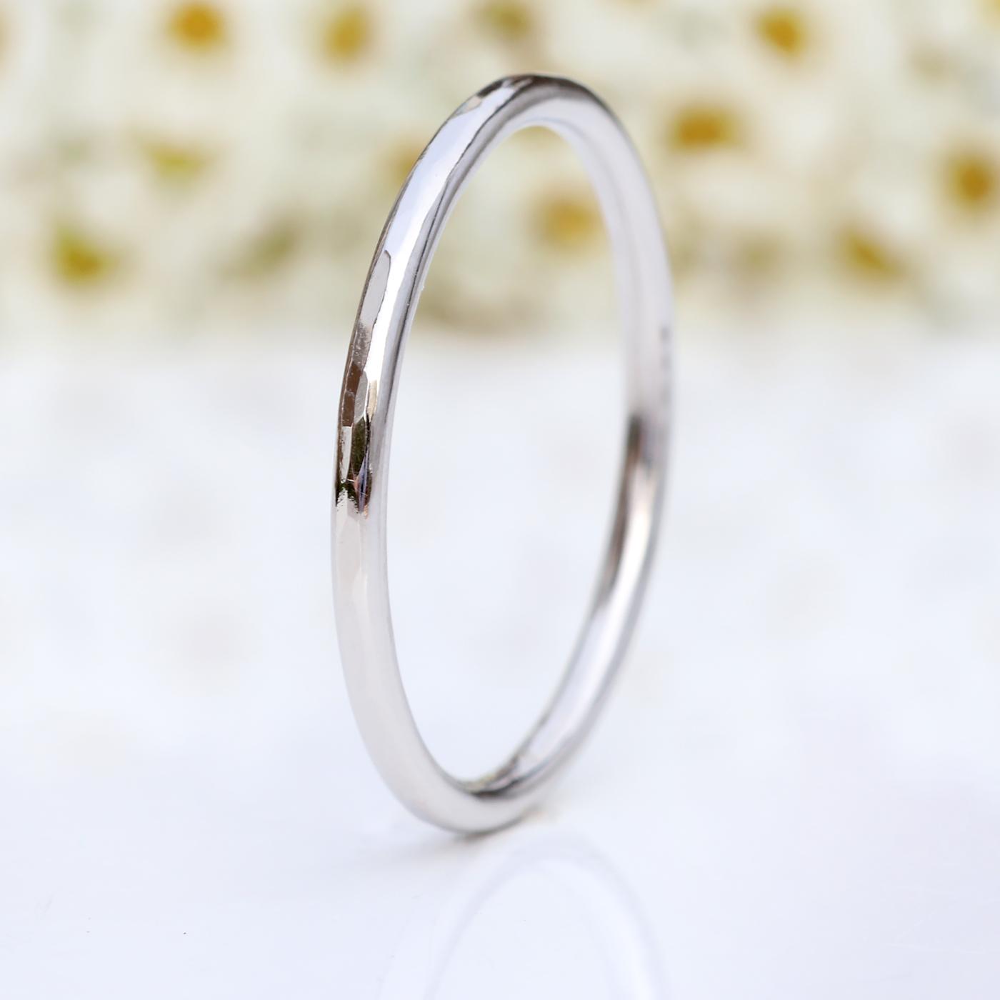 144c39d9e0 1.5mm Halo Platinum Wedding Ring | Wedding Bands | Lilia Nash Jewellery