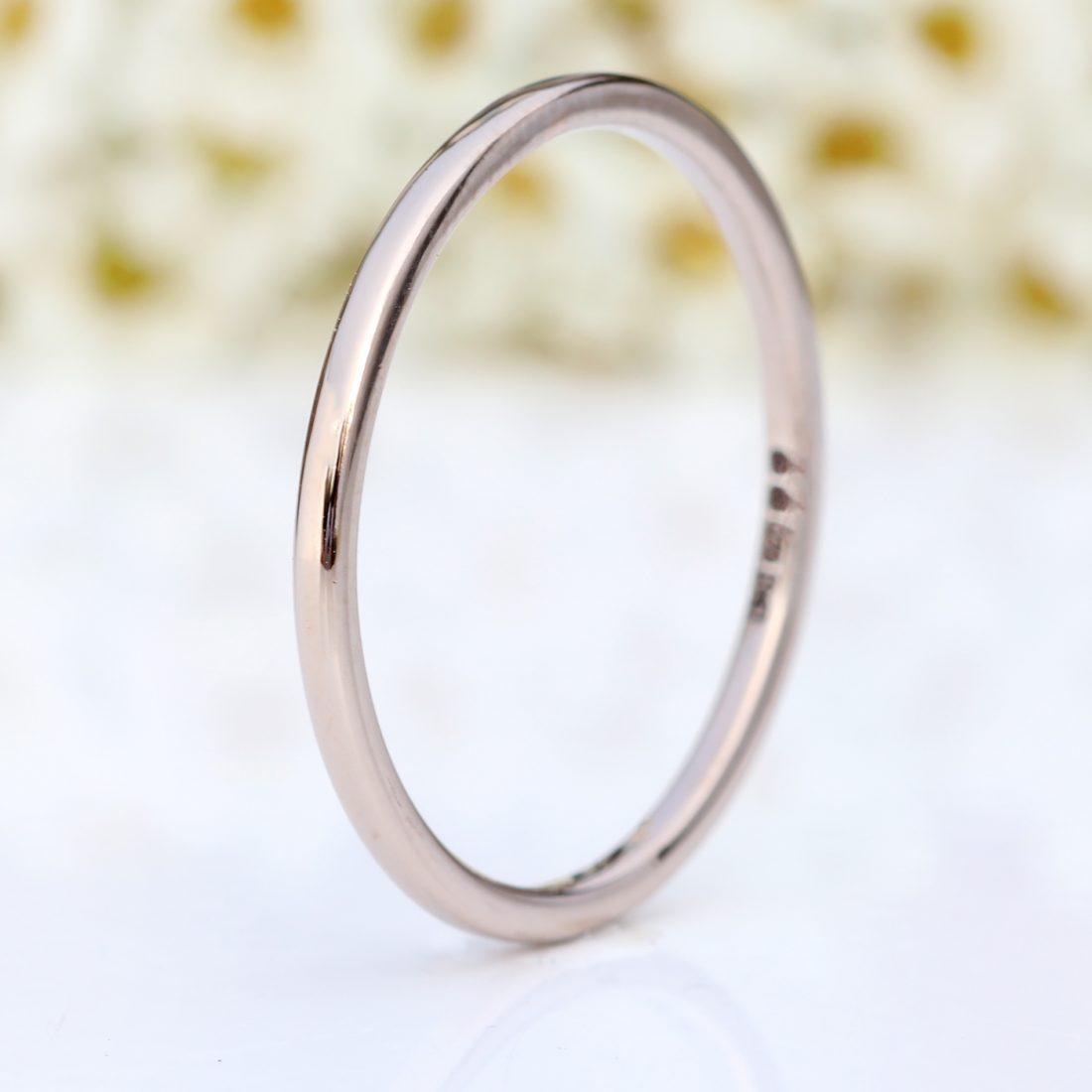 white gold slim halo wedding ring