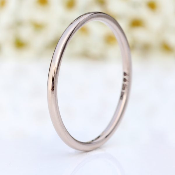 white gold slim halo wedding ring
