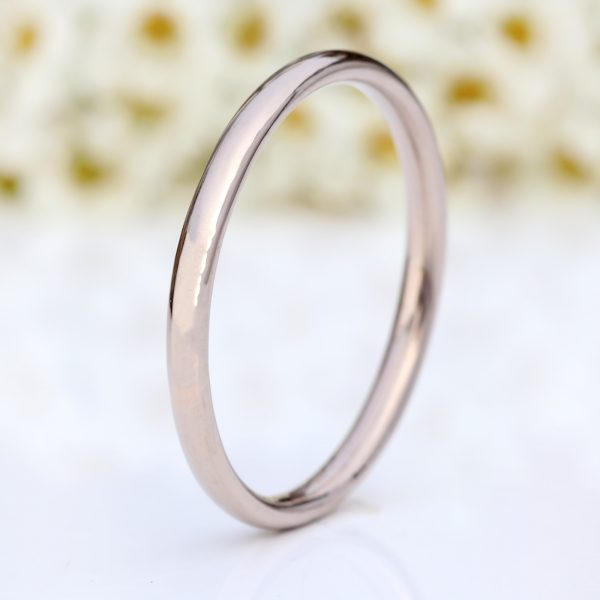 white gold slim comfort fit wedding ring
