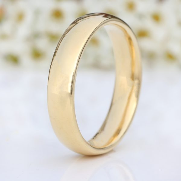 5mm comfort fit wedding ring, 18ct gold