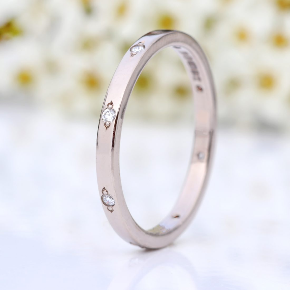 diamond slim eternity ring