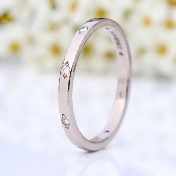 diamond slim eternity ring