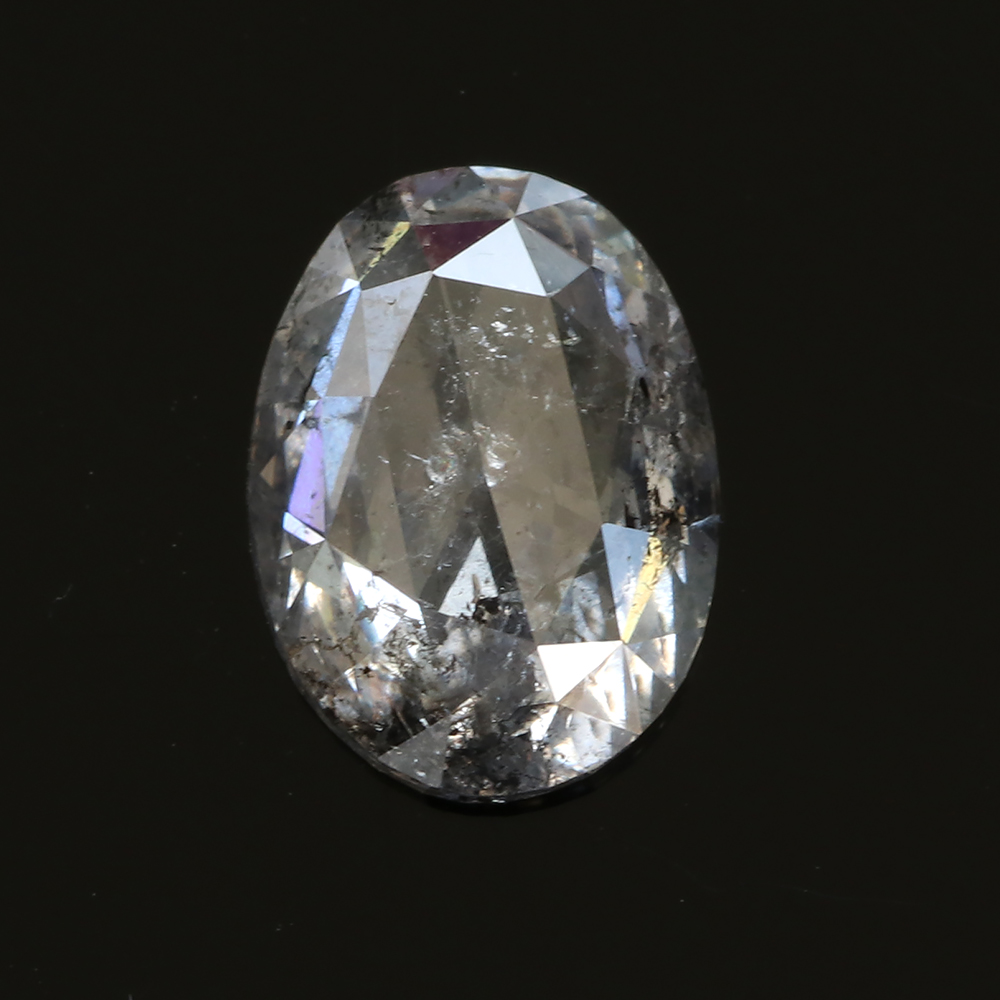 oval salt and pepper diamond, 1.42 carats