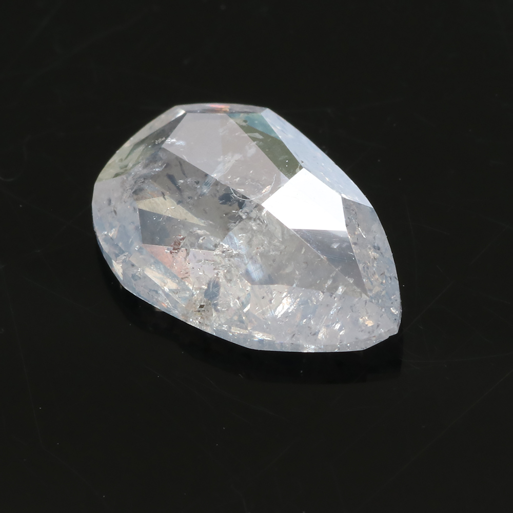 salt and pepper pear shape diamond, 1.39 carats