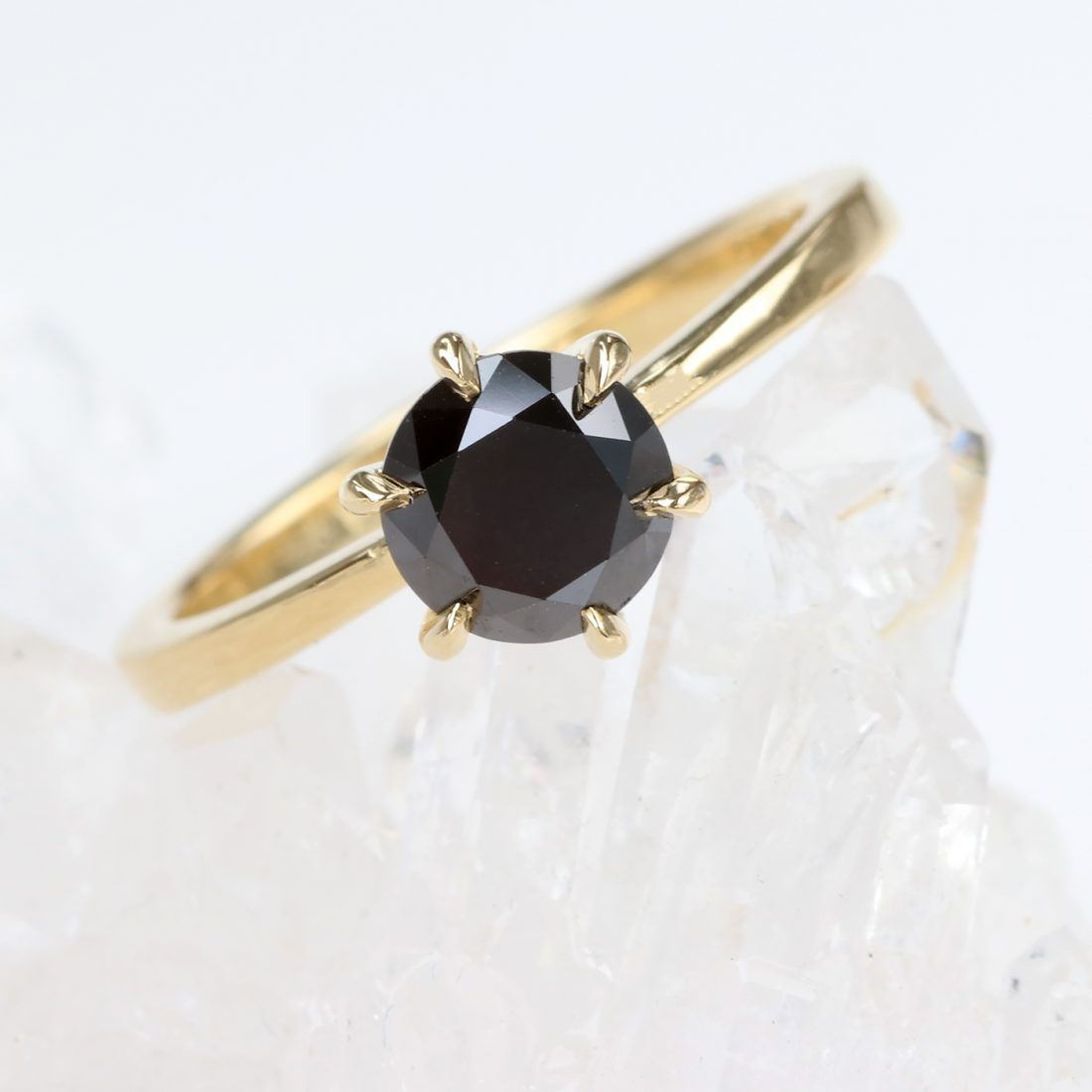 18ct Gold Black Diamond Ring