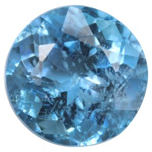 Natural dark blue aquamarine