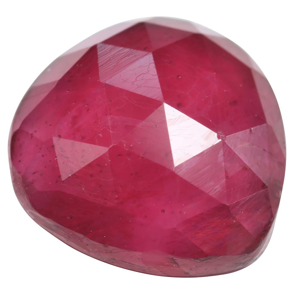 rose cut pink sapphire