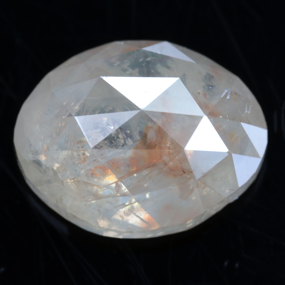 large oval champagne diamond