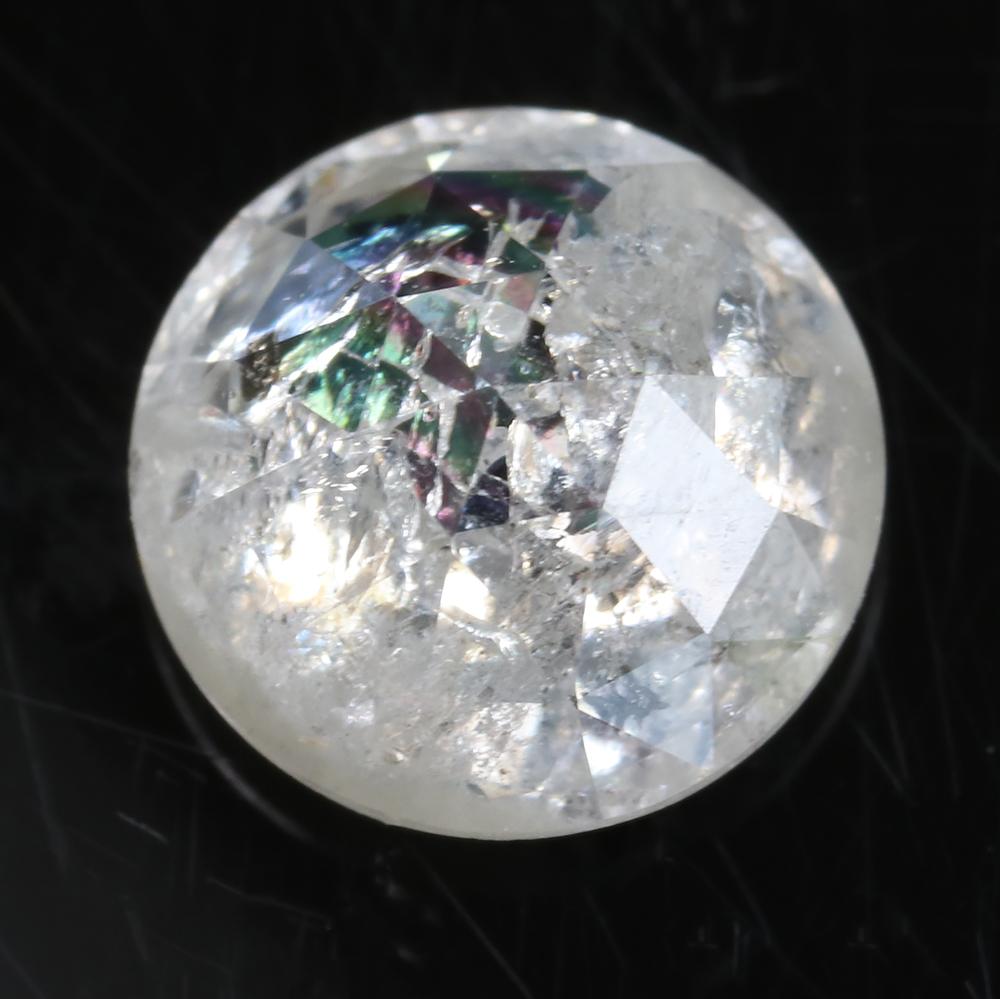 icy diamond 4.8mm 0.6 carats